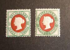 Heligoland 1875 SG 14a & 17 Unmounted Mint