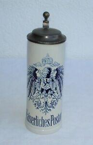 vintage Gerz Post Collection  - Kaiserliches Postamt -  Bierkrug / Krug um 1990