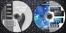Patches BOSS ME 20-50-70-80. Multi Effects Processor. 48.328 Partituras guitarra