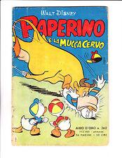 """Paperino A La Mucca Cervo No 252 1951 - Italian Donald Duck -""""Cow  Cover !  """""""