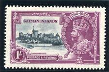 Cayman Islands 1935 KGV Silver Jubilee 1s slate & purple MNH. SG 111. Sc 84.