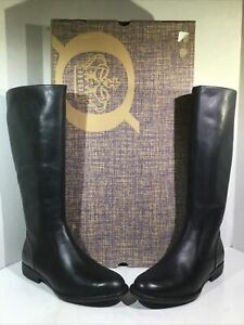 Born Womens Size 8 EU 39 North Black Leather Zip Knee High Fashion Boots ZE-974