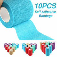 Waterproof Vet Horse Self-Adhesive Cohesive Wrap Bandage Rap Tape Elastic Stick