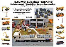 Nr.7A 12 Zementsäcke mit Folie auf Palette 1:87/H0 f.Baufahrzeuge Eisenbahn LKW