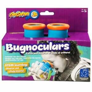Geosafari Jr -Bugnoculars 3 and 2x Magnifiers Snap-Lock Lid Water-tight Bottom