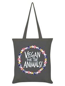 Tote Bag Vegan For The Animals Graphite Grey 38x42cm