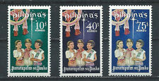 PHILIPPINES ,1968 , CHRISTMAS , SET OF 3 ,  PERF,  MNH