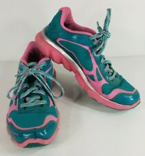 New listing Under Armour pink teal green lace up sneakers tennis shoes girls youth size 6.5