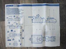 Marauder  Vintage  Blueprints/Instructions GI JOE   #3