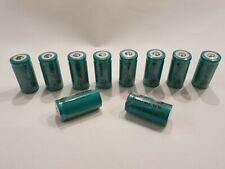 10x UltraFire CREE XML ICR batería rcr123a 3,0 voltios 800 mah 16340 nuevo