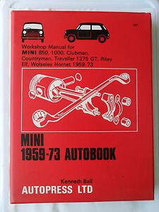 AUSTIN MORRIS MINI WORKSHOP MANUAL SEVEN RILEY ELF WOLSELEY HORNET 1275 GT MOKE