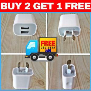 Dual USB Wall Charger Universal Port 5V 2A AC Wall Home Charger Power Adapter AU