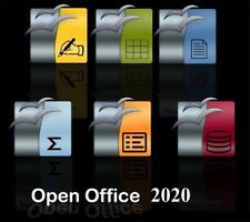 Open Office 2020 Software Suite for Windows Linux & Mac OSX