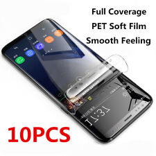 10x For Samsung S20 Note 10+ S10 S8 S9 Plus PET Soft Clear Screen Protector Film