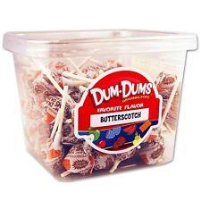 Dum Dum Pops Favorite Butterscotch Flavor TWO Big 1 Lb Tubs! Lollipop Dum Dums
