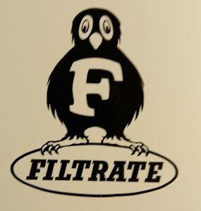 """Filtrate 3"""" x 3.5""""  lambretta vespa Camper Van car  Decal bike"""