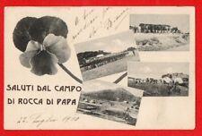 ROCCA DI PAPA-SALUTI DAL CAMPO-VG 1910-ROMA