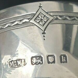 Sterling Silver Sugar Bowl ~ London 1925 ~ 193g ~ Mappin & Webb ~ Art Deco