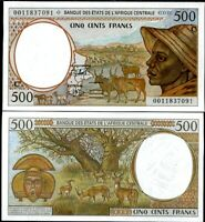 CENTRAL AFRICAN STATES CONGO 500 FRANCS 2000 P 101 Cg UNC