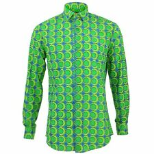Mens Shirt Loud Originals TAILORED FIT Eggs Green Retro Psychedelic Fancy