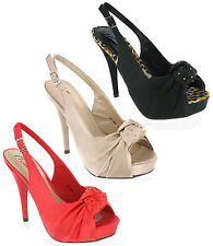 Stiletto Party Slingback Synthetic Shoes for Women