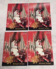 1995-96 Michael Jordan Hoops Earth Shakers #358 4 Card Lot Chicago Bulls Goat