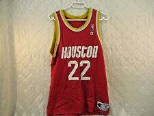 Vintage Houston Rockets Clyde Drexler No 22 1990s Red Champion Jersey Size 40