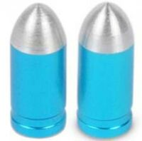 Alloy Presta Tyre Wheel Valve Caps MTB Bicycle Bike Blue
