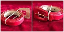 "Allied Dept Stores Wpl 9362 Misses M Red Leather Belt .75"" Wide Style 02016"