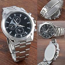 Fashion Men's Date Stainless Steel Quartz Army Military Sport Wrist Watch