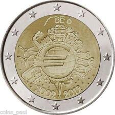 Belgium Belgie Belgique Belgien  Бельгия  2 Euro, 2012 TYE Ten Years Euro  UNC