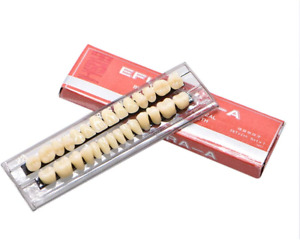 28 Pcs Dental Synthetic Resin Tooth Denture 1 Sets False Teeth 23 A3 Upper Lower