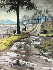 "Clarence Holbrook Carter – 1979 ""Country Road"" 127/200 Lithograph Hand Signed by"