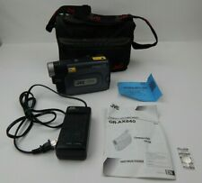 Rare Vtg JVC Compact VHS-C Camcorder GR-AX840U  Battery Charger Case As-Is 50x