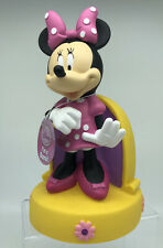 NWT Disney Minnie Mouse Plastic Coin Bank Butterfly Pink Polka Dot Dress Bow