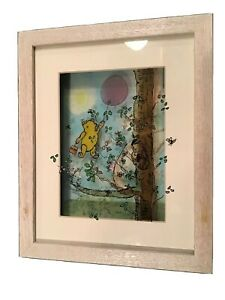 Jean Pierre Weill 3D Winnie the Pooh Purple Balloon Painted Glass Vitreography