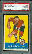 1957 TOPPS HOCKEY #28 JACK MCINTYRE PSA 8 OC