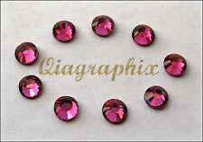 288 Pcs DMC Iron On Hotfix Crystal Rhinestones Rose Pink SS30, 6.4~6.6mm SS30P
