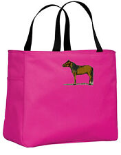 Miniature Horse embroidered essential tote Any Color