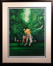 Victor Spahn Golf Art Ready to hang Framed Fine Art Lithograph LE Make An Offer!