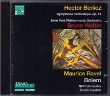 Bruno WALTER BERLIOZ Symphonie Fantastuque RAVEL Bolero CD New York Philharmonic