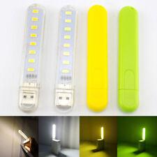 Mini USB 8 LED Night Light 5V Bulb Lamp Gadget for Reading Book Pocket Notebook