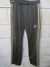 Pantalon ADIDAS rétro vintage kaki or Trefoil girl femme 34 sport pant