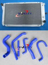 aluminum radiator + hose FOR Ford EF EF2 EL NF NL DF DL Falcon Fairline Fairmont
