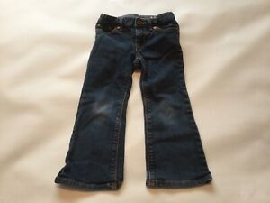 Girls Genuine Baby Gap Blue Jeans Size Age 2-3 Years Old Vgc