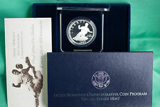 1997 Jackie Robinson PROOF Baseball 90% Silver Dollar Coin US Mint Box and COA