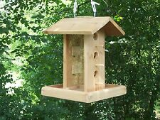 Great HEAVY DUTY Hanging bird feeder with Platform Handmade.