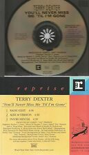 TERRY DEXTER rare YOU'LL NEVER MISS ME TIL I'M GONE 3 track promo CD single edit