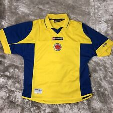 Official LOTTO 2003-2004 Colombia National DTP Yellow Home FIFA Soccer Jersey S