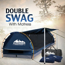 Weisshorn Double Camping Swags Dome Tent Wing - BLUE